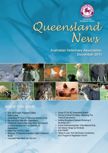 December 2011 - Australian Veterinary Association