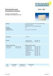 Sicherheitsleuchte Einzelbatterie-System Serie A62 - Pfrommer GmbH