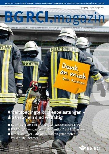 BG RCI Magazin Ausgabe März/April 2013 - Berufsgenossenschaft ...