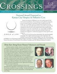 a publication for friends of kansas city hospice & palliative