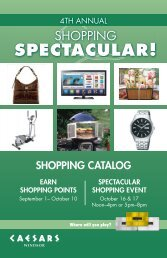 shopping catalog - Caesars Entertainment