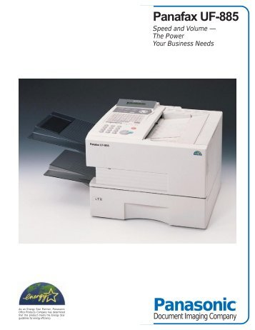 UF-885 Spec pdf - Panasonic FTP