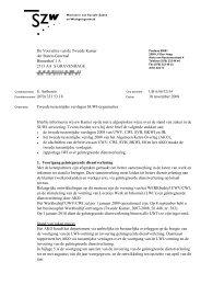 Brief aan de tweede kamer - Tweede tussentijdse ... - Inspectie SZW