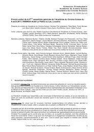 Procès-verbal de la 5ème assemblée générale - Schweizer ...
