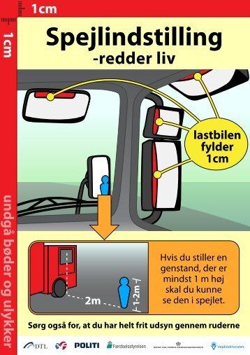 Du kan se, hvordan spejlene indstilles her - Trafikstyrelsen
