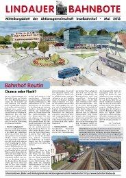 Lindauer Bahnbote – Mai 2013 - DIE LINKE. Alexander Süßmair, MdB