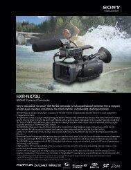 HXR-NX70U - Sony