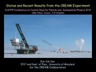 Status and Recent Results from the CREAM ... - Villa Olmo - Infn