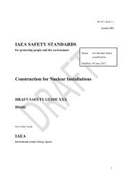 IAEA SAFETY STANDARDS Construction for Nuclear Installations