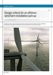 Design criteria for an offshore wind farm installation jack-up - Wärtsilä