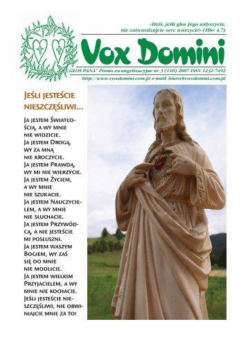 Rok Fatimy. Cierpienie w służbie tryumfu ... - Vox Domini