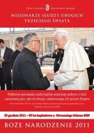 BOÅ»E NARODZENIE 2011 - Misioneros Siervos de los Pobres del ...
