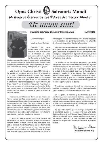 Ut Unum Sint 01-2013.indd - Misioneros Siervos de los Pobres del ...