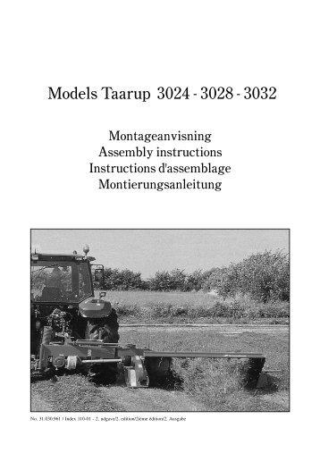 Models Taarup 3024 - 3028 - 3032 - Hjallerup Maskinforretning A/S