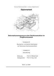 Überwachungsmessung Dachkonstruktion - Beuth Hochschule für ...