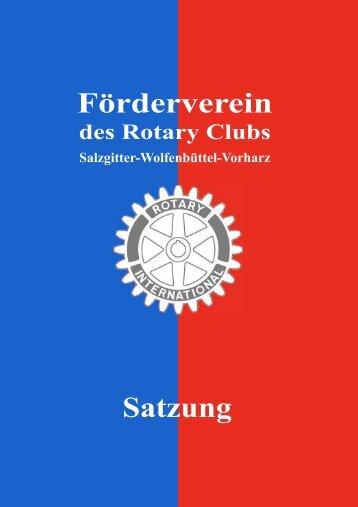 Deckblatt Satzung.pub - Rotary Club Salzgitter-Wolfenbuettel-Vorharz