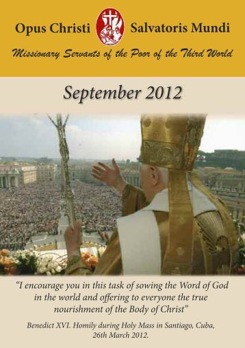 September_2012 - Misioneros Siervos de los Pobres del Tercer ...