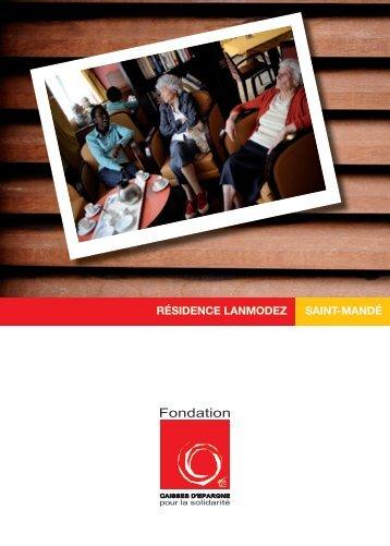 résidence lanmodez saint-mandé - Fondation Caisses d'Epargne ...