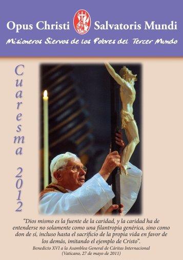 Cuaresma 2012.indd - Misioneros Siervos de los Pobres del Tercer ...