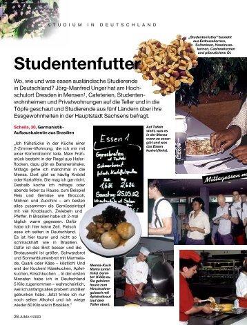 JUMA 1/03 Seiten 26-30 Studentenfutter - Iundervisning