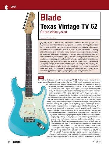Blade Texas Vintage TV 62 - FX-Music Group