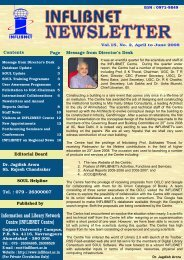 Vol.15- No.2 (April-June,2008) - INFLIBNET Centre