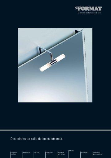 FORMAT Des miroirs de salle de bains lumineux