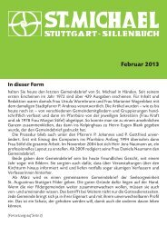 Februar 2013 - Katholische Kirchengemeinde St. Michael, Stuttgart ...