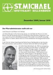 Dezember 09 / Januar 10 - Katholische Kirchengemeinde St ...