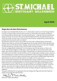 April - Katholische Kirchengemeinde St. Michael, Stuttgart-Sillenbuch