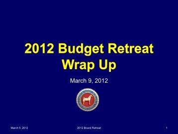 2013 Budget Retreat- Wrap Up - Jackson County, Michigan