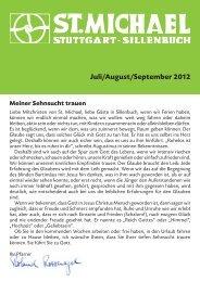 Juli/August/September 2012 - Katholische Kirchengemeinde St ...