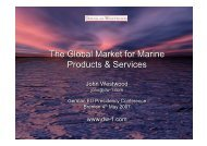 The Global Market for Marine Products & Services The Global ...