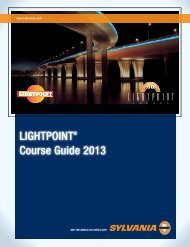 2013 LIGHTPOINT Course Guide - Osram Sylvania