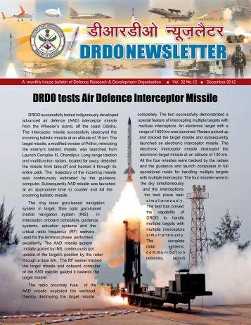 Vol. 32, Issue 12, December 2012 - DRDO