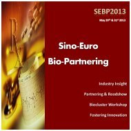 Sino-Euro Bio-Partnering (SEBP) - Biocat
