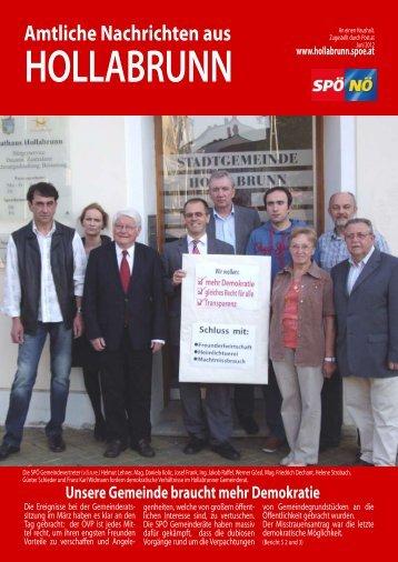 Amtliche Nachrichten aus - Hollabrunn - SPÖ