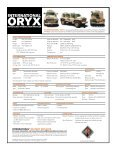 Oryx Specification Sheet - JED - Page 2