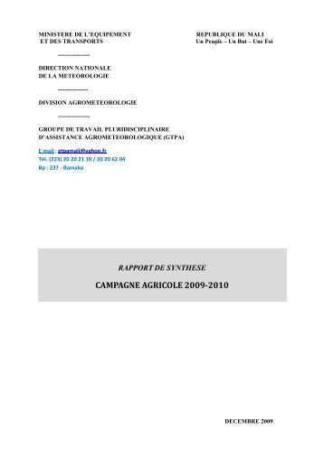 Rapports Synthèse gtpa 2009_V finale