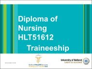 Diploma of Nursing HLT51612 Traineeship - Ballarat Health Services