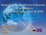 (IHE) - Überblick Konzept und Status 2006