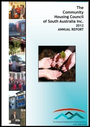 Chairperson's Report - Community Housing Council of South Australia