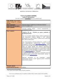 Výzva k podání nabídek - E-ZAK MUNI - Masarykova univerzita