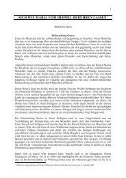 Predigt von Bischof Kurt Koch - Schönstatt Bewegung Schweiz