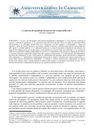 1 Le autorità di regolazione dei mercati nel «tempo della crisi»* di ...