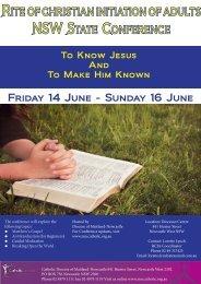 Friday 14 June - Catholic Diocese of Maitland-Newcastle