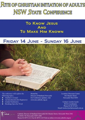 Friday 14 June - Catholic Diocese of Maitland-Newcastle