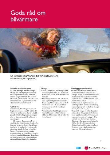Goda råd om bilvärmare