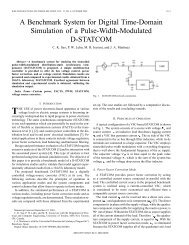 A benchmark system for digital time-domain simulation of a pulse ...