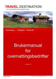Brukermanual for overnattingsbedrifter - visitBergen